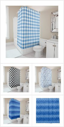 Cool Geometric and Abstract Shower Curtains