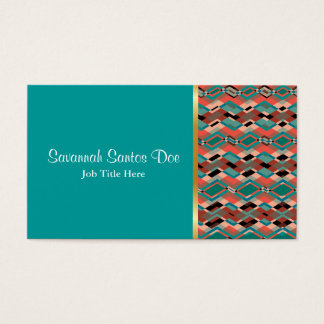 Cool Geometric Aztec Pattern Business Card
