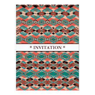 Cool Geometric Aztec Pattern 5.5x7.5 Paper Invitation Card