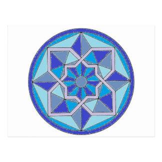 Cool Geometric Pattern Postcard