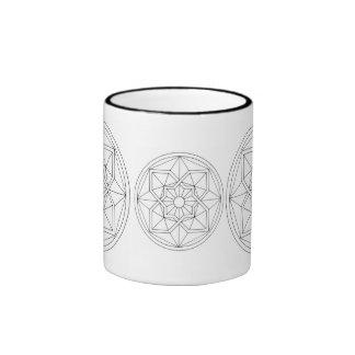 Cool Geometric Pattern Ringer Mug