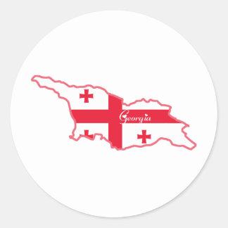Cool Georgia Classic Round Sticker