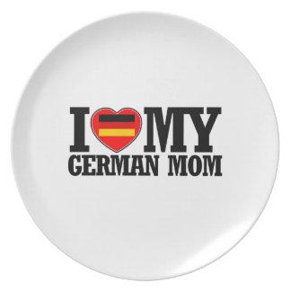 cool German  mom designs Plate