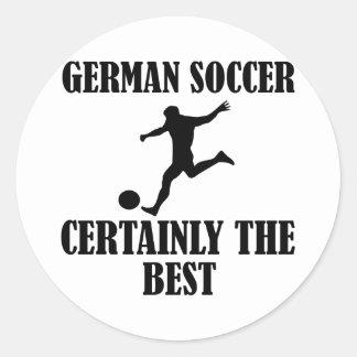 cool German soccer designs Classic Round Sticker