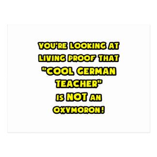 Cool German Teacher Is NOT an Oxymoron Postcard