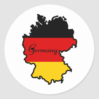 Cool Germany Classic Round Sticker