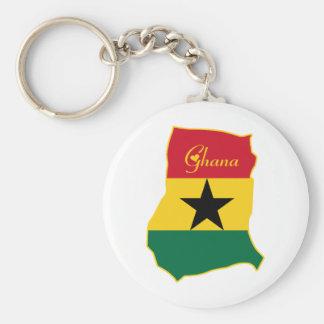 Cool Ghana Basic Round Button Keychain