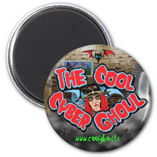 Cool Ghoul Refrigerator Magnet Round
