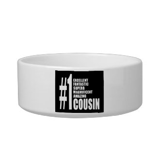 Cool Gifts for Cousins : Number One Cousin Cat Water Bowl