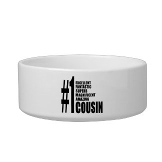 Cool Gifts for Cousins : Number One Cousin Pet Bowl