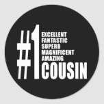 Cool Gifts for Cousins : Number One Cousin Stickers