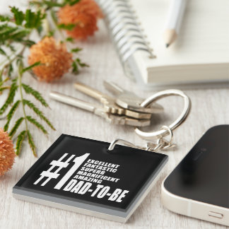 Cool Gifts for Future Dads : Number One Dad to Be Single-Sided Square Acrylic Keychain