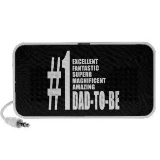 Cool Gifts for Future Dads : Number One Dad to Be Mp3 Speakers