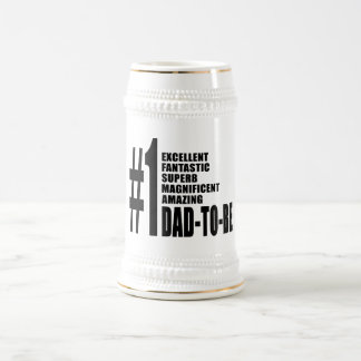 Cool Gifts for Future Dads : Number One Dad to Be 18 Oz Beer Stein