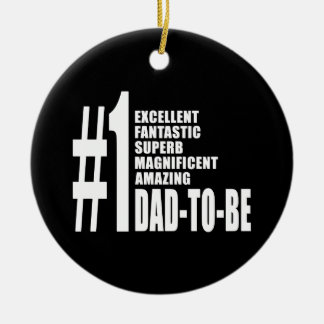 Cool Gifts for Future Dads : Number One Dad to Be Double-Sided Ceramic Round Christmas Ornament