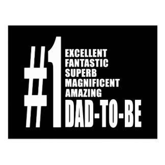Cool Gifts for Future Dads : Number One Dad to Be Postcard
