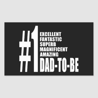 Cool Gifts for Future Dads : Number One Dad to Be Rectangular Sticker