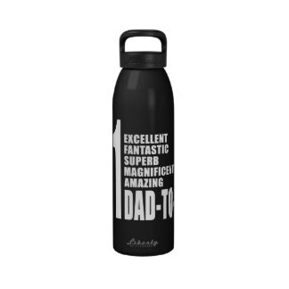 Cool Gifts for Future Dads Number One Dad to Be Water Bottle