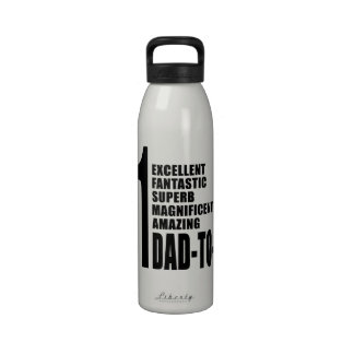 Cool Gifts for Future Dads Number One Dad to Be Reusable Water Bottle
