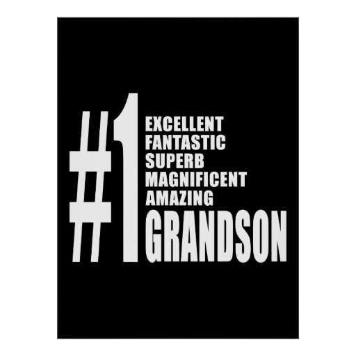 Cool Gifts for Grandsons : Number One Grandson Posters