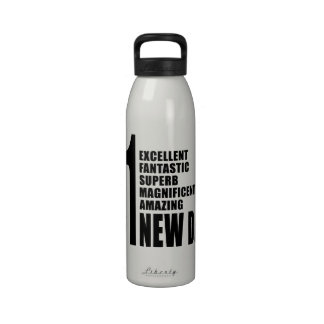 Cool Gifts for New Dads Number One New Dad Reusable Water Bottles