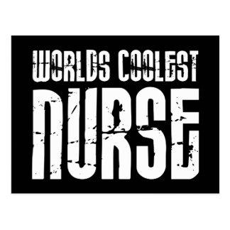 Cool Gifts for Nurses : Worlds Coolest Nurse Postcard