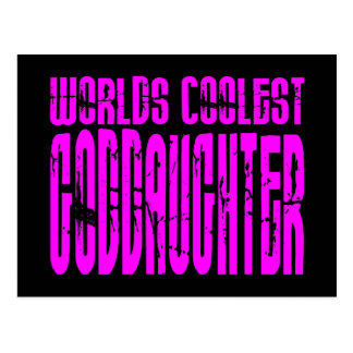 Cool Gifts Pink Worlds Coolest Goddaughter Postcard