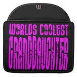 Cool Gifts : Pink Worlds Coolest Granddaughter MacBook Pro Sleeves