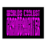 Cool Gifts : Pink Worlds Coolest Granddaughter Postcard