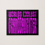 Cool Gifts : Pink Worlds Coolest Granddaughter Jigsaw Puzzle