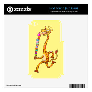 Cool Giraffe Eating Ice Cream iPod Touch 4G Decals