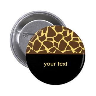 Cool Giraffe Pattern 2 Inch Round Button