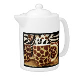 Cool Giraffe Pattern and Zebra Stripes Coffee Mugs
