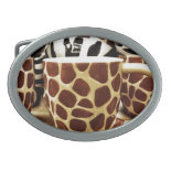 Cool Giraffe Pattern and Zebra Stripes Coffee Mugs Belt Buckles