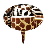 Cool Giraffe Pattern and Zebra Stripes Coffee Mugs Cake Pick