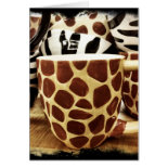 Cool Giraffe Pattern and Zebra Stripes Coffee Mugs Cards