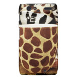 Cool Giraffe Pattern and Zebra Stripes Coffee Mugs Motorola Droid RAZR Case