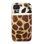 Cool Giraffe Pattern and Zebra Stripes Coffee Mugs iPhone 4 Cover