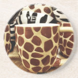 Cool Giraffe Pattern and Zebra Stripes Coffee Mugs Drink Coasters