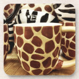 Cool Giraffe Pattern and Zebra Stripes Coffee Mugs Coaster