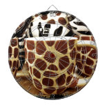 Cool Giraffe Pattern and Zebra Stripes Coffee Mugs Dart Board