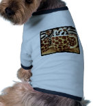 Cool Giraffe Pattern and Zebra Stripes Coffee Mugs Dog T-shirt