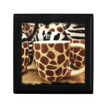 Cool Giraffe Pattern and Zebra Stripes Coffee Mugs Gift Boxes