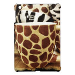 Cool Giraffe Pattern and Zebra Stripes Coffee Mugs iPad Mini Case