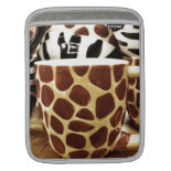 Cool Giraffe Pattern and Zebra Stripes Coffee Mugs iPad Sleeves