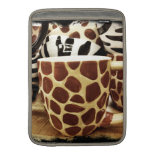 Cool Giraffe Pattern and Zebra Stripes Coffee Mugs MacBook Sleeves