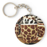 Cool Giraffe Pattern and Zebra Stripes Coffee Mugs Keychain