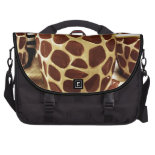 Cool Giraffe Pattern and Zebra Stripes Coffee Mugs Laptop Commuter Bag