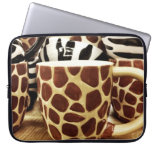 Cool Giraffe Pattern and Zebra Stripes Coffee Mugs Laptop Computer Sleeves