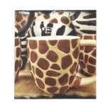 Cool Giraffe Pattern and Zebra Stripes Coffee Mugs Memo Notepads